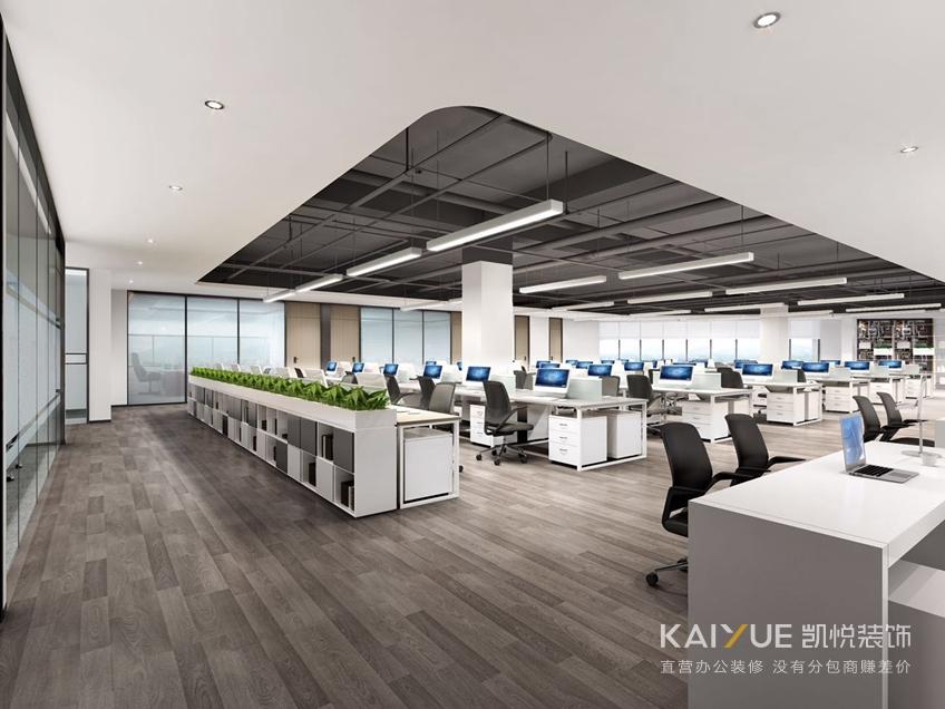 办公室装修办公区效果