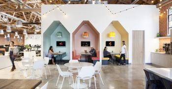 办公室装修把花卉与灯光恰当融入工作环境中