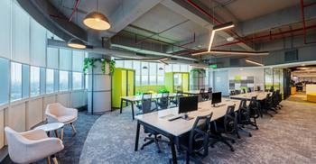 办公装修设计以群岛概念开创新办公空间布局